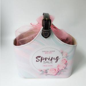 Quality PU Leather Bath Spa Storage Basket Spa Gift Baskets for Bathroom Hotel Adult Body Nature Bath Body Works for sale