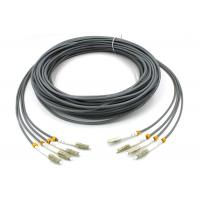 Buy LC - LC Multimode Fiber Patch Cord , 6 Core Gray Armored Patch Cable For FTTH at wholesale prices