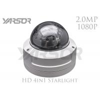 Buy IP66 Waterproof Starlight Security Camera  H 264 Outdoor 2MP IP Dome Camera at wholesale prices