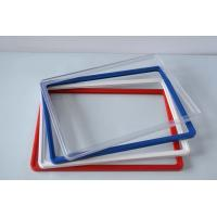ABS Plastic Pop Display Frame Stand , Plastic Snap Frames In Red Yellow Blue