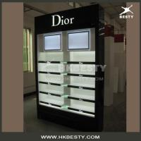 Quality High End LED Lightings Wood Display Cabinets in Cosmetics Shop for sale