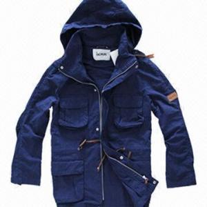 Quality Fashionable Windbreaker, Unisex Khaki, Navy Lifestyle Jacket/Coat, Softshell Jacket, Detachable Hood for sale