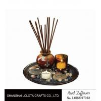 Quality Brown Room Reed Diffuser For Large Room , Ceramic Aromatherapy Diffuser for sale