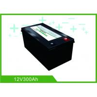 Quality Black Lithium RV Deep Cycle Battery 12V 300A Low Temp Charging Long Lifespan for sale