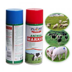 Quality B1003 Article Tinplate  Acrylic 400ml Animal Marking Paint for sale