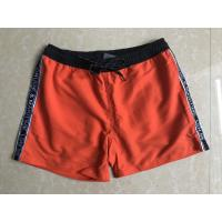Quality 2018wholesale100%polyester mens board shorts,solid color board shorts,the side ribbon for sale