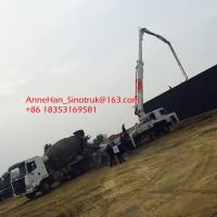 Quality High Durability Sinotruk Concrete Pumping Equipment With 53 Meters Arms for sale