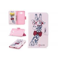 Buy Lovely Giraffe Card Pocket Phone Case , Cell Phone Wallet Case For Huawei at wholesale prices