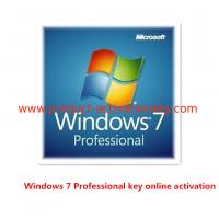 Quality Windows 7 Product Key Code For Microsoft Win 7 Professional OEM Key Stable for sale