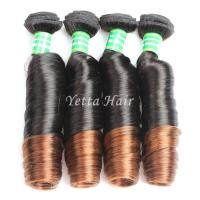 Buy cheap Two Tone Soft  Ombre Peruvian Virgin Remy Hair / Romance Spiral Curl Natural Hair from wholesalers
