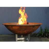 Quality Rusty Finish Corten Steel Fire Bowl , Round Steel Fire Pit Corrosion Stability for sale