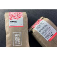 Fancy Adhesive Food Sticker Labels Resealable , Custom Coffee Packaging Label Printing