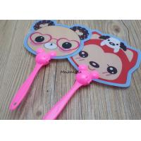 China Cartoon Pattern Plastic Hand Held Fans Cute Mini For Men And Women for sale