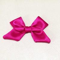 Quality Red Ribbon Bow Crafts Fabric Material 8cm Long Gift Packing Eco - Friendly for sale
