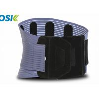 China Neoprene Waist Support Brace Black / Blue Breathable Customized Logo on sale
