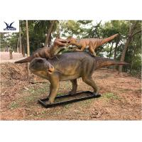 Quality Life Size Animatronic Dinosaur Garden Ornaments Mother And Baby Garden Display for sale