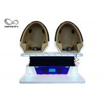 Quality Cool 9D Egg VR Cinema 360 VR Chair 2 Seats For Shooping Mall CE UL for sale