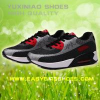 China rubber soles sport shoes sneaker running for men women, adults male fly fabric running shoe sport good quality on sale