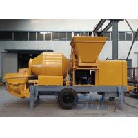China Lightweight Concrete Mixer Pump With Mixer Electric Motor Double Shaft Type on sale