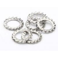 Quality Serrated Gasket Steel Flat Washers / Star Lock Washer Din6798A Zinc Plate Surface for sale