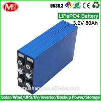 Quality Hot sale car battery charger 3.2V 80Ah LiFePO4 battery for EV for sale