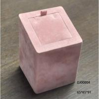 Quality Pink Ring Holder Jewellery Display Box For Women Square Pink Fabric Painting for sale