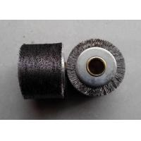 China Peeling Paint Industrial Roller Brushes 1.4 Inch Wide Face Brass Plated Steel Wire on sale