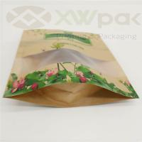 Quality Recycle stand up pouch zip lock dried biodegradable kraft paper bag food packaging bag for sale