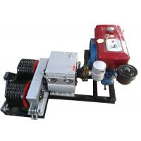 China Cable Winch Puller 5 Ton Diesel Engine Powered Double Drum Winch on sale