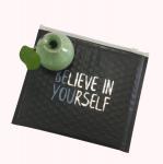 Quality Black Slider Shipping Metalized Air Padded Bag Matte Black Zipper Bubble Bag for sale