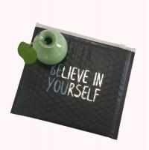 Quality Customized Cosmetic Water Proof Black Matt Metallic Ziplock Bubble Padded Bag for sale