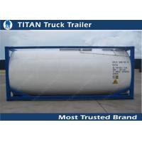 Quality Carbon Steel 40ft Water Tanker Container Liquid Tank Trailers for sale