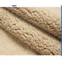 China polyester fake sherpa fur faux sheep for making winter coat boots lining cushion with CE certificate on sale