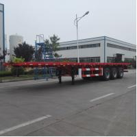 Quality 3- Axle Flat Bed Semi Trailer Truck 40 Ton Payload Car Carrier Semi Trailer for sale