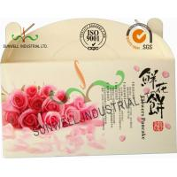 Quality Flower Cookies Cardboard Food Packaging Boxes , Disposable Cardboard Food Containers for sale