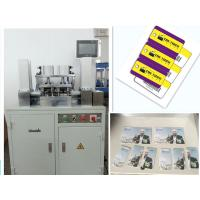 China 3 key tags Credit card punching Machine with hole PLC Controlling Method on sale
