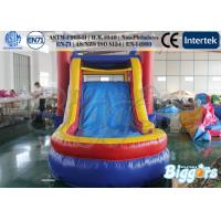 Quality Funny Bouncing Inflatables Rentals / Jumping Castle with Slide Combo Free Blower for sale