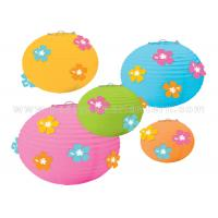 Quality Flower Designs Paper Craft Lanterns Party Decorations Colorful  DIY Kits Cute for sale