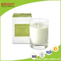 China Transparent Glass Jar Candle Soy Wax Paraffin Wax Scented Clean Candle With Customized Kraft Box White Card Paper Carton on sale