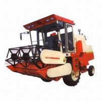 China Full-feed Combine Harvester with 65HP Engine Power on sale