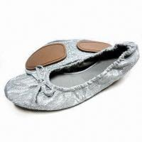 Quality Bendable Women's Bling-bling Ballerina/Dancing Shoes, Available in Different Upper Designs for sale