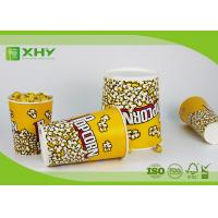 Buy cheap Paper Popcorn Buckets 100% food grade , disposable paper popcorn cup and bucket from wholesalers