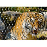 China Zoo Webnet Animal Enclosure  SS304stainless steel rope mesh  diamond mesh fencing on sale