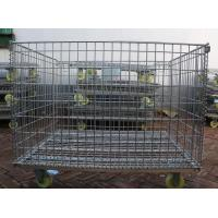 Buy cheap Wire Mesh Container with Wheel,Removable Mesh Container,5.0-7.0mm,5x10cm from wholesalers