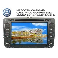 China 7 Inch Auto Dual Car GPS DVD Players with FM / AM / RDS for Scirocco / golf 6 / Tiguan on sale