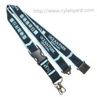 China Printed brand logo neck lanyards, China lanyard manufacturer for custom id badge lanyards on sale