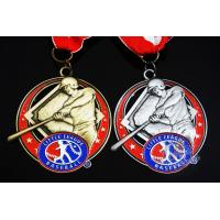 Quality Baseball 3D Effect Metal Sports Award Medals Antique Gold / Silver Plating for sale