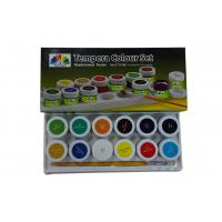 Quality Metallic primary acrylic paint colors , Tempera Colour set Paint Color Pigments for sale