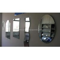 Quality Double Coated Paint Aluminium Glass Mirror , Decorative Bathroom Mirror With Shelf for sale