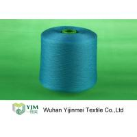 Quality Professional Plastic Cone Polyester Yarn Dyeing , Dyed Color 100% Polyester Spun Yarn for sale